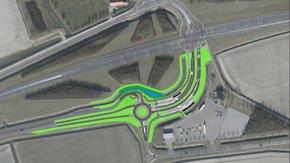 Reconstruction N498-Schaapsweg intersection